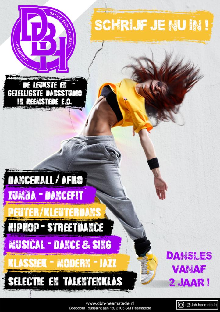 Flyer Dansschool DBH-Heemstede